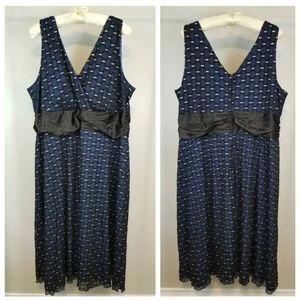 Penningtons Plus 4X Mesh Overlay Sleevesless Dress